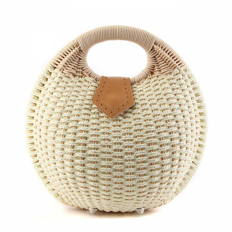 2017 Fashion Womens Handbag Rustic Straw Bag Rattan Bag Handbag Shell 6 Colors B