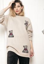 Cute knit jumper - 90s vintage sweater - $40.06