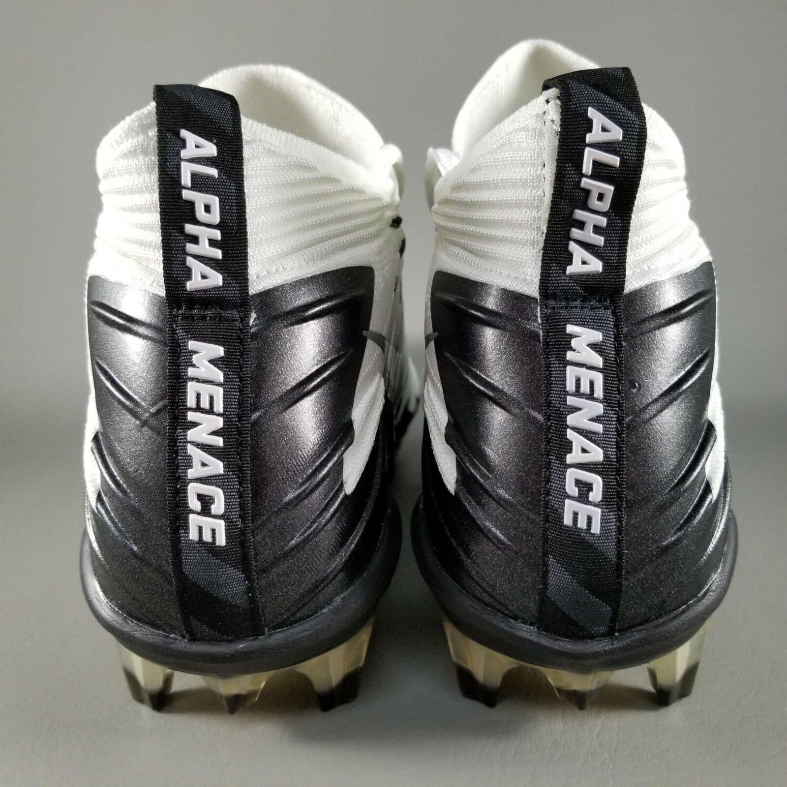 0f1191b2b17 Nike Alpha Menace Elite Size 11.5 Football Cleats FB Boots Mens White Black  Oreo