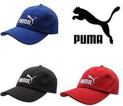 Puma Cap Original Baseball Mens Knitted Hat Genuine New Black 6 Panel  - $23.67
