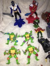Mixed Super Hero Action Figure Lot Of 36 Marvel Ninjas Turtles Power Ranger WWE image 2