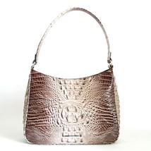 NWT BRAHMIN MEG TEXTURED LEATHER SHOULDER BAG LATTE MELBOURNE - $182.86
