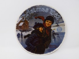 "Knowles ""A Christmas Courtship 1982"" Collectible Plate - Rockwell - $16.14"