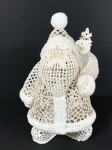 Vintage Santa Claus Christmas figure Starched Crocheted doll Christmas d... - $69.27