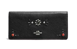 $199 NWT Coach 57530 Western Rivets Slim Wallet... - $130.68