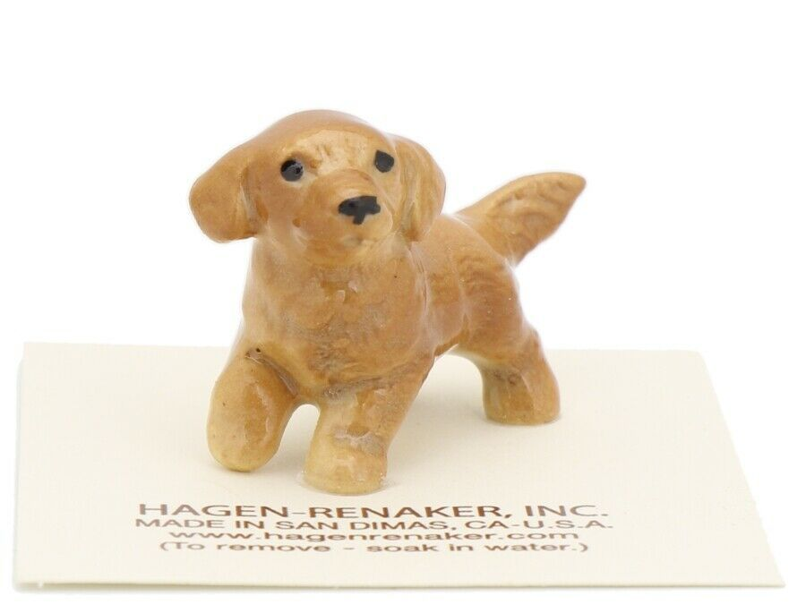 Hagen Renaker Miniature Dog Golden Retriever Pupppy Ceramic Figurine