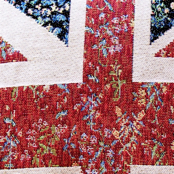 Pillow Decor - United Kingdom Flag Tapestry Throw Pillow 15x19 image 2