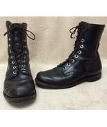 Genuine Vietnam Era Military Combat Boots Men 10 Black Leather Brown Sho... - $187.11