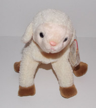 Ty Beanie Baby Ewey Plush 7in Lamb Sheep Stuffed Animal Retired with Tag... - $9.99