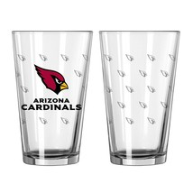 Caseys NFL Arizona Cardinals Satin Etch 16 oz Pint Glass Set NEW  - $17.15