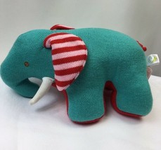 Animal Adventure Knit Elephant Stiffed Animal Striped Ear Plush Toy Love... - $12.87