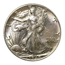 1940 S Walking Liberty Half Dollar - Choice BU / MS / UNC - $70.45