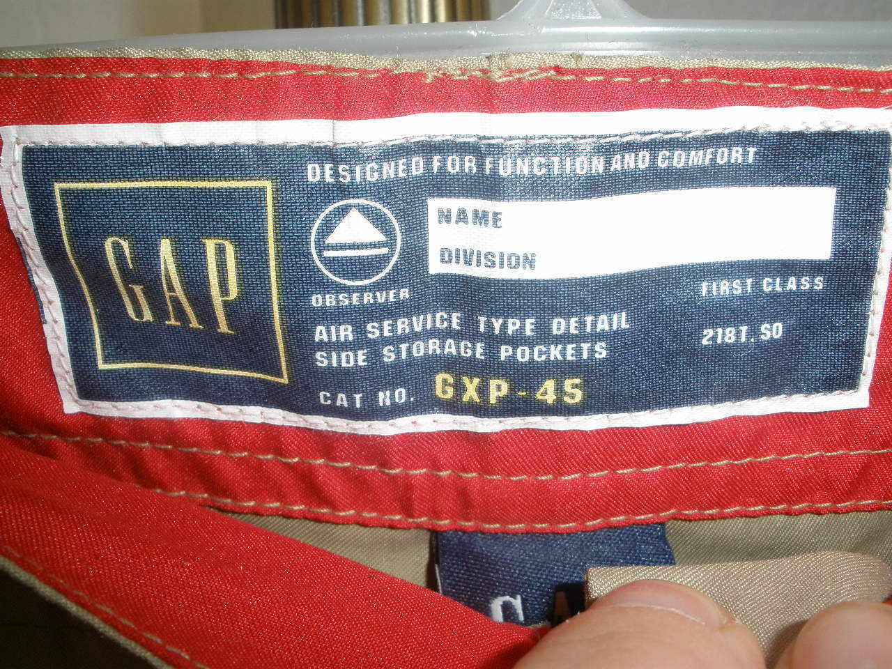 Kids GAP Adjustable Length Teflon Polyester Air Service Type Detail Pants Sz XL image 2