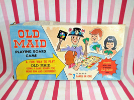 Sweet Vintage 1950's Warren Built Rite Games OLD MAID Board Game + Box NEAT! - $40.00