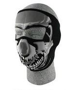 SKULL Chrome Neoprene Face Mask Biker Motorcycle Snowboard Ski Cold Weather - $12.99