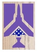 Air Force Mcdonnell Douglas F-4 Phantom Ii Award Shadow Box Medal Display Case - $360.99