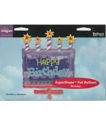 "Anagram ""Happy Birthday"" Cake  19"" x 26"" SuperShape Foil Balloon - $13.21"