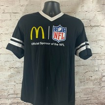 Vintage McDonalds NFL Men's V-Neck T-Shirt Black Sponsor Vintage - $29.95