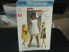 Simplicity 8609 Misses Dress in 2 Lengths Pattern - Size 16 Bust 38 Wais... - $8.39