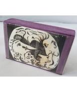 """Shellady Designs """"Muddle"""" Purple Stone Stamp Art Piece Unique Painting D... - $12.40"""