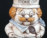 Vintage RARE Treasure Craft ? Vintage Cookie Chef Mustache Cookie Jar Made USA