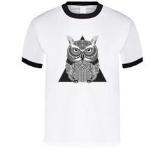 Boho Owl Tribal Men's T Shirt | Animal Nature Men's Shirt | Geometric Me... - $20.99