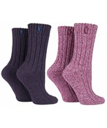 Jeep - 2 Pack Womens Thick Pink or Purple Wool Blend Knit Hiking Boot Cr... - £9.87 GBP