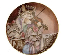 Danbury Mint Fanciful Felines Purrfectly Performed cat plate GB86 - $48.41