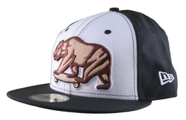 Dissizit California Skating Bear Sk8 Black W New Era 59FIFTY Fitted Baseball Hat image 2
