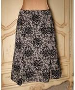 Cute Black Velvet Flocked Wool A Line Ann Taylor Loft Flippy A Line Skir... - $18.00