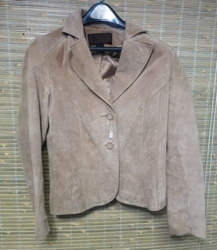 EUC Zippered Lined Brown Multi FOX Jacket Coat Size M Made In Greece