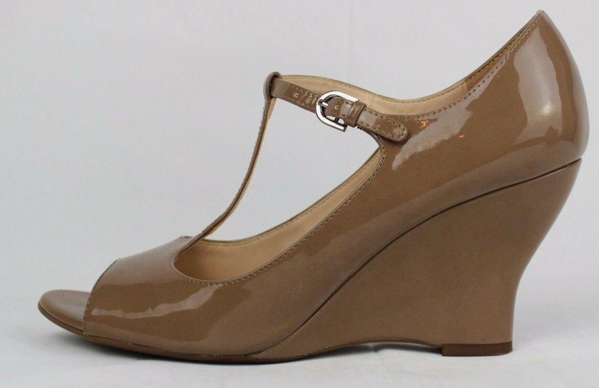 Franco Sarto Sadie Damen Mary Jane Schuhe Vorne Offen Taupe Größe 9M image 8