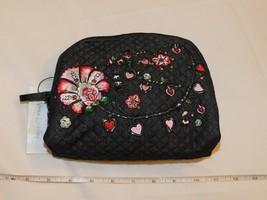 Vera Bradley Iconico Medio Cosmetico Viaggio Trucco Custodia Denim Blu 2... - $34.74