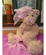 LOVE Teddy Bear Pinks & Bows Valentines Day - $24.00