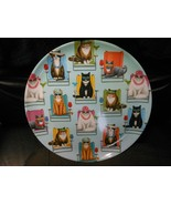 """Round Melamine Plate 10 1/4"""" - Cats Sitting On Beach Chairs With Cocktails - $9.85"""