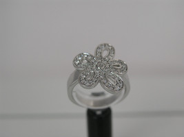 Ring Cacharel flowers with stones CSR259Z Sterling Silver 0,925 - £44.66 GBP