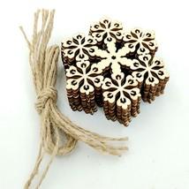 10pcs Christmas Hanging Ornaments Decoration Wooden Snowflake Lantern Pa... - $4.99