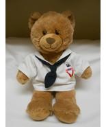 Build A Bear Plush light Brown Bear in /Navy sailor shirt - $24.74