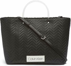 Calvin Klein Morgan Woven Novelty Large Tote - $71.20