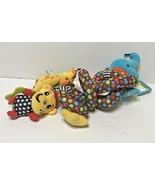Sozzy Baby Plush Rattle Teether Squeaker Zoo Animals Elephant Monkey Gir... - $15.57