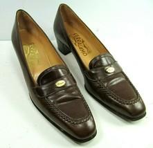 Salvatore Ferragamo Heels Pumps Brown Leather Women's Size 6.5 AAA - $21.56