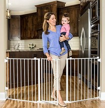 Regalo Super Wide Metal Configurable Baby Gate with 4 Pack of Wall Mount... - $76.84