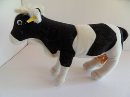 Steiff cow with  button flag stuffed animal made in Germany 2783 - $56.99