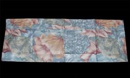 "VTG? Pier 1 Hydrangea FLORAL FROST Blind Blouson Valance 74"" x 13-3/4"" N... - $22.99"