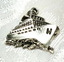 CRUISE SHIP FINE PEWTER PENDANT CHARM image 1