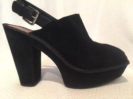 Michael Kors Black Suede Platform Slingback Heel Bootie Shoe Women's 7.5... - $89.09