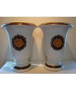 """Pair Bacchus, t. Limoges white 8 """" porcelain vases. - $45.00"""