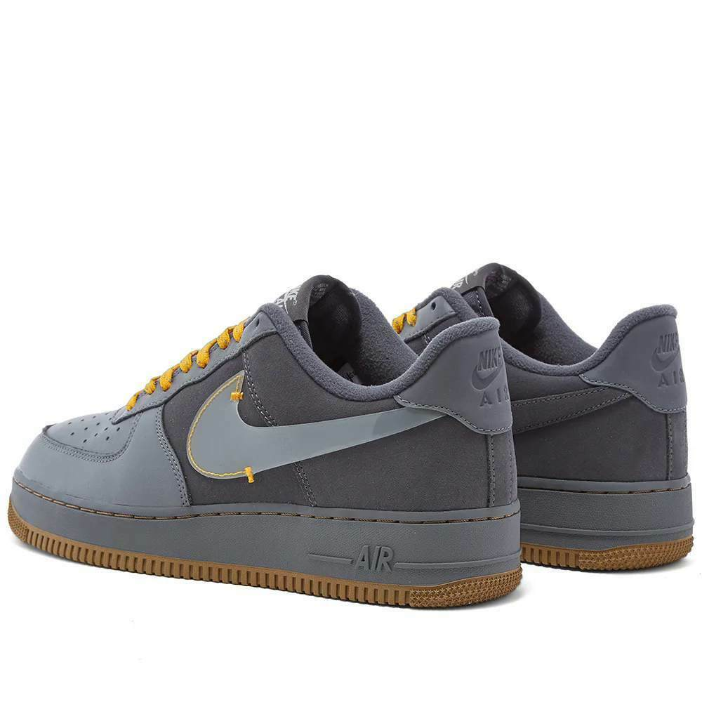 Nike Air Force 1 Premium Grey / Yellow Shoes / Trainers image 3
