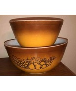 Vintage 70's Pyrex Old Orchard 403 & 402 Mixing Bowls, Set of 2 - $17.50