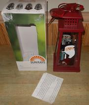 Sunrays Holiday Solar Lantern Santa Claus Lantern - $23.20